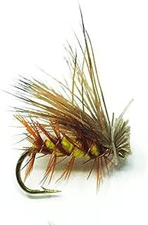 Creative Angler Elk Hair Caddis Yellow Fly Fishing Flies. 1 Dozen Flies