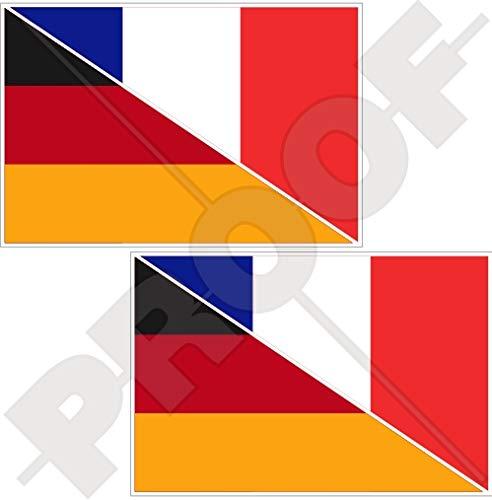 Aufkleber Vinyl X2 120/mm Bumper Sticker Frankreich French Waving Flag Fran/çaise 119,4/cm