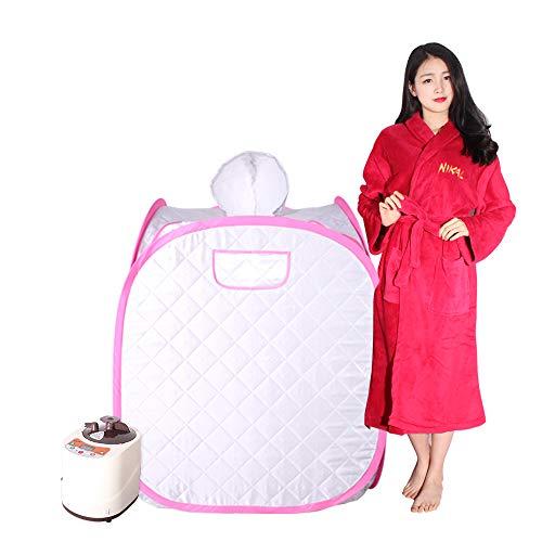 Smartmak Portable Steam Sauna, Health eco-Friendly 2L Steamer with Remote Control, One Person or Two...
