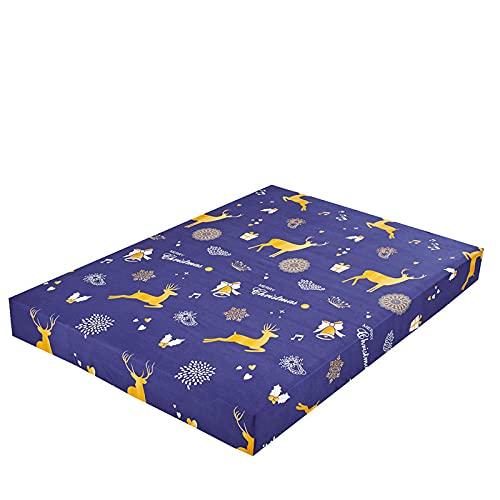 DSman Protector de colchón Acolchado - Microfibra - Transpirable Impresión de sábanas y Cepillado Todo incluido-11_120X200 + 25cm