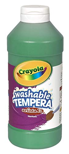 Crayola Artista II Washable Tempera Paint, Pint, Green
