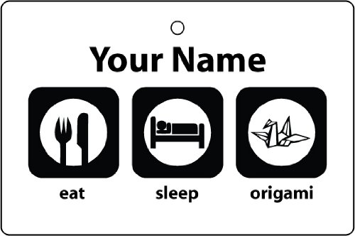 Personalized Eat Sleep Origami Car Air Freshener