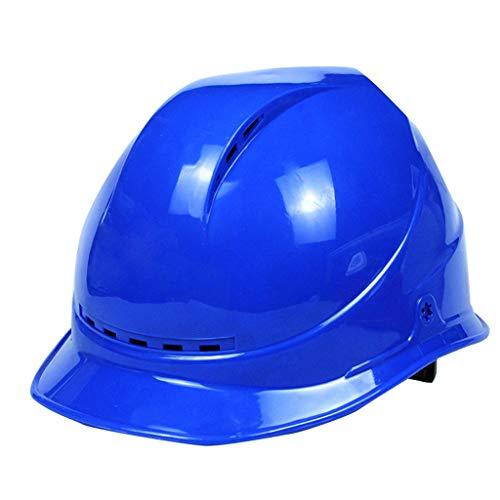Arbeitshelm V-belüftete Schutzkappe Für Schutzhelme Für Bergbau-Baumaschinen Innen- / Außenraum-Betrieb Bei Normaler Temperatur, Mehrfarbig (Color : Blue)
