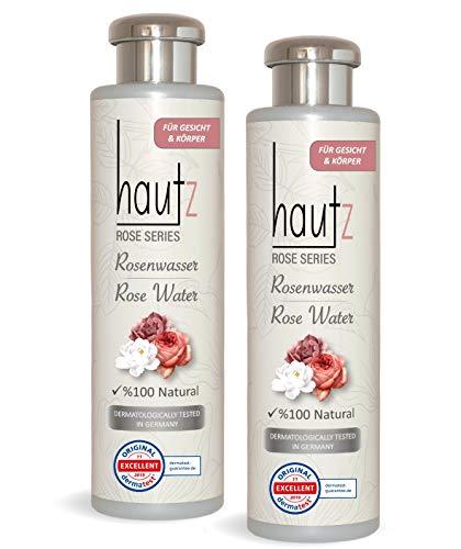 HAUTz Rosenwasser Gesichtswasser, (800ML) 100% BIO natürlich veganes Rosenwasser, Naturkosmetik für Akne und Hautunreinheiten