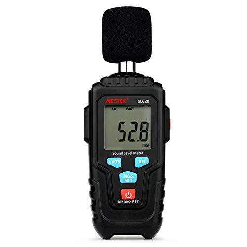 HYY-YY Präzises Instrument Dezibelmessgerät Tonpegelanzeige Logger 30-135dB Geräuschmessung Schallpegelmesser Detektor-Diagnosewerkzeug SL620