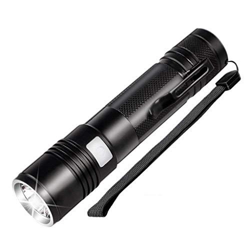 Zmsdt Lampe De Poche 5 Modes Rechargeable 1000 Lumens LED Lampe De Poche Zoomable IP65 Étanche Super Lumineux Petite Lampe De Poche