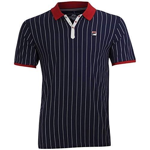 Fila Men's BB1 Polo Shirt Peacoat/Chinese Red/Gradenia Large