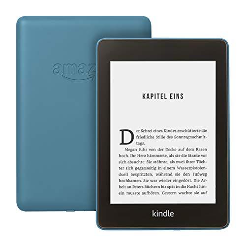 Kindle Paperwhite, wasserfest, 6 Zoll (15 cm) großes hochauflösendes Bildschirm, 32 GB – mit Werbung – Dunkelblau (Vorgängermodell – 10. Generation)