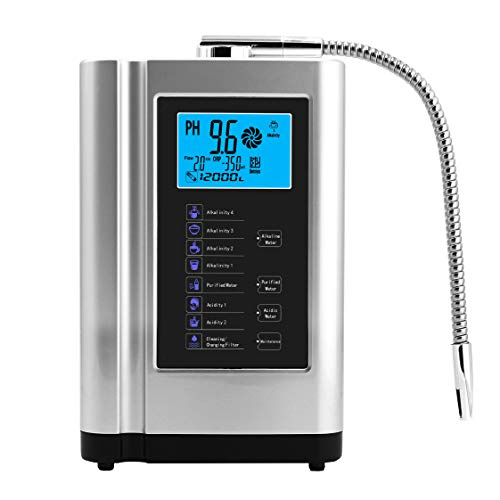 AlkaDrops Water Ionizer, Water Purifier Machine PH 3.5-10.5 Alkaline Acid Water Machine,Up to -500mV ORP, 6000 Liters Per Filter,7 Water Settings,Auto-Cleaning,Intelligent Voice(silver)