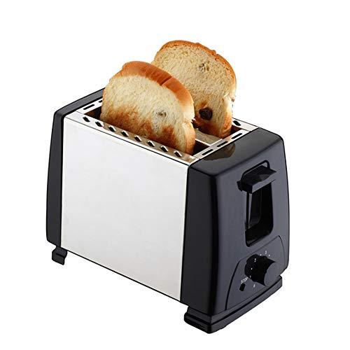 Roestvrijstalen Broodrooster 2-delige Broodrooster Zwarte Brede Sleuf - Ontbijt Master-broodrooster met Verwarming