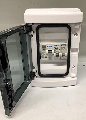 Garage Caravan Shed Consumer Unit Fuse Board 63A RCD + 2 MCB's 1 x 6A 1 x 20A