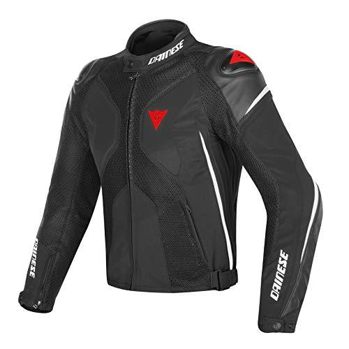 DAINESE 1654592_858_54 Super Rider D-Dry Jacket Giacca Moto Nero/Bianco/Rosso, 54 EU