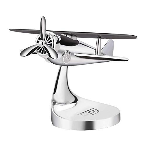 Aromatherapie zonne-vliegtuig decoratie, zinklegering materiaal, kan worden geplaatst Aromatherapie en Propeller kan worden geroteerd ZILVER