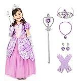 Sincere Party Costume da principessa Sophia per bambina, vestito da principessa Sofia con accessori 5-6 anni