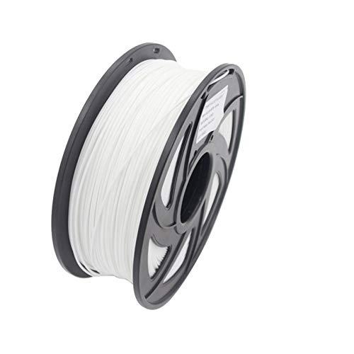 NLLeZ 1kg 1.75mm 3D Printer Filament PLA ABS Plastic Material for CTC Reprap K8200 Unimaker Makerbot UP Afinia Solidoodle Delta Huxley (Color : PLA White)