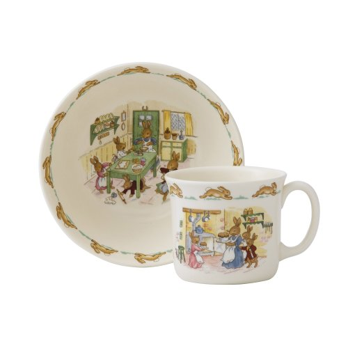 Royal Doulton Bunnykins Classic Nurseryware 2 Piece Infant Set, Multicolored