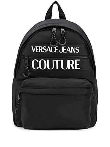 Versace Jeans Costura mochila negra E1YZAB60-Línea Macrologo DIS.1 TESS 71593 899 NYLON MACROLOGO