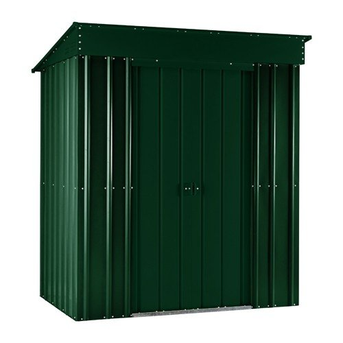 LOTUS LOTUSPENT84SOLIDHG Heritage Metal Pent Shed Solid, Green, 8x4