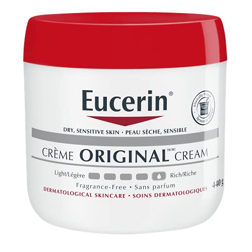 Eucerin Original Healing Cream   Body Moisturizer forExtremely Dry Skin, Compromised Skin   Emmolient Enriched Body Cream   Fragrance Free   Dermatologist Recommended Brand   16 Ounce Jar (Pack of 2)