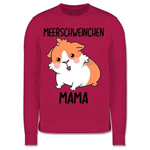 Shirtracer Tiermotive Kind - Meerschweinchen Mama - 128 (7/8 Jahre) - Fuchsia - Tier - JH030K - Kinder Pullover