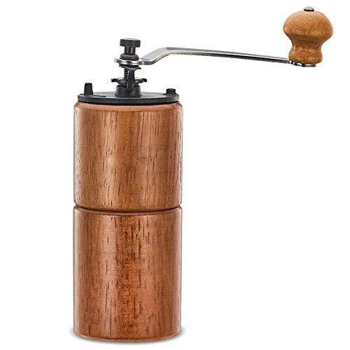 LYYJIAJU Handmatige koffiemolen, handmatige draagbare bonenmolen, roestvrij stalen handvat met verstelbare keramische conische brander, ideaal voor thuis, op kantoor, op reis