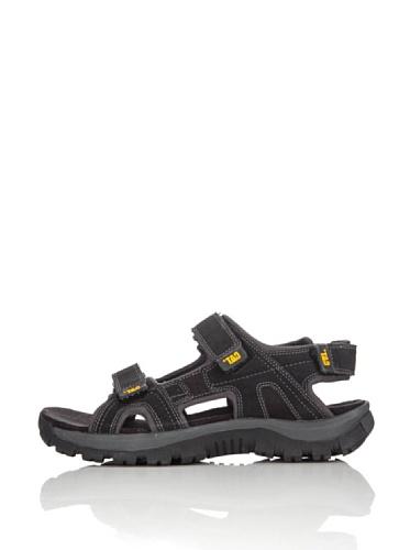 Cat Footwear Giles, Sandalias de Punta Descubierta Hombre, Negro (Mens Black Mens Black), 44 EU