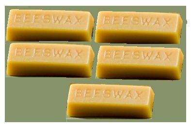 Pure Golden Tan Beeswax 5 1oz cute block 5oz pure beeswax