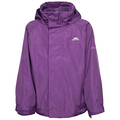 KIDS TRESPASS SKYDIVE 3-IN-1 WATERPROOF JACKET BOYS GIRLS CHILDS CHILDRENS FLEECE LINED RAIN COAT (7-8 Years, Damson Purple)