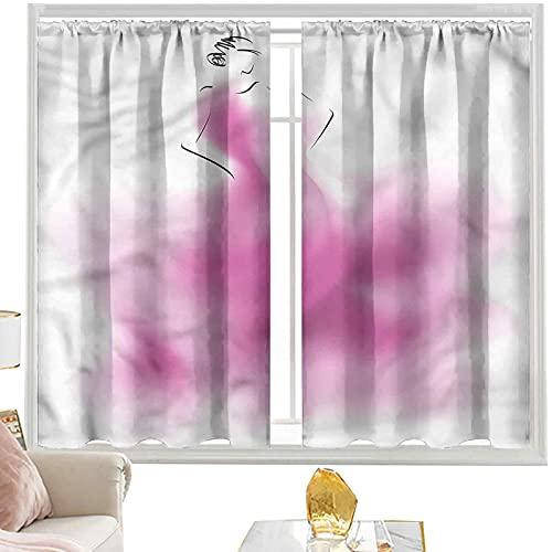 Cortinas y cortinas para niñas, abstractas vestido de novia Vogue W42 x...