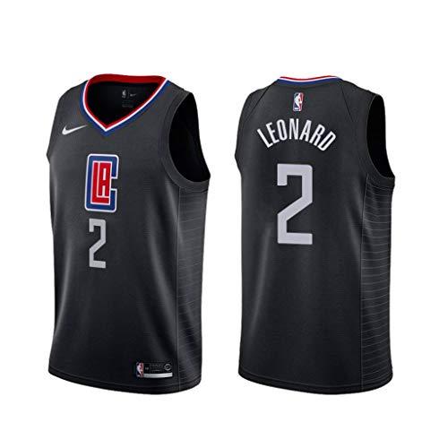 canottejerseyNBA Kawhi Leonard - Los Angeles Clippers #2, Basket Jersey Maglia Canotta, Swingman Ricamata, Abbigliamento Sportivo (Nero, M)