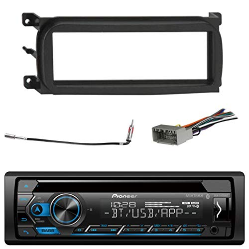 Pioneer Vehicle Digital Media 2DIN USB AUX Receiver with Bluetooth Enhanced Audio Functions Bundle with Metra General Motors 06-UP Dash Multi Kit and Metra Chrysler 2002 Antenna Adapter Cable