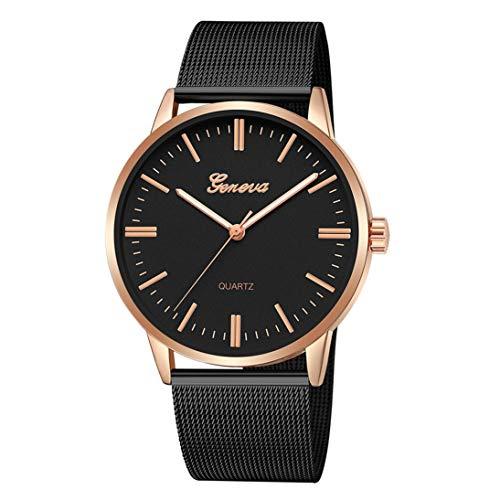 Fashion Casual watches Womens Men GENEVA Womens Classic Quartz Stainless Steel Wrist Watch Bracelet Watches