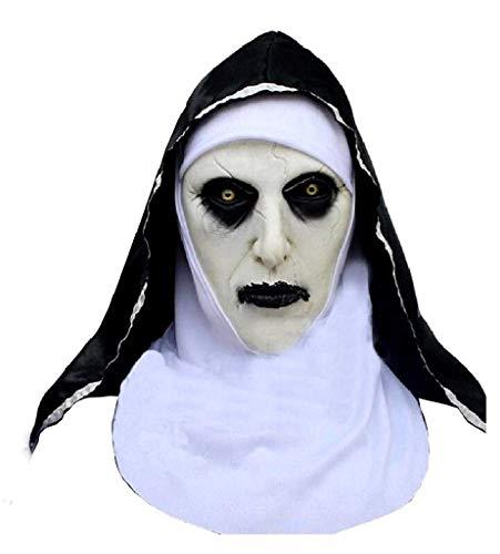 EVRYLON Maske Sister Assassin Schwester Nonne Film Horror Kostüm Verkleidung Karneval Erwachsene Mann Frau Geschenkidee für Weihnachten und Geburtstag The Nun Horror Halloween