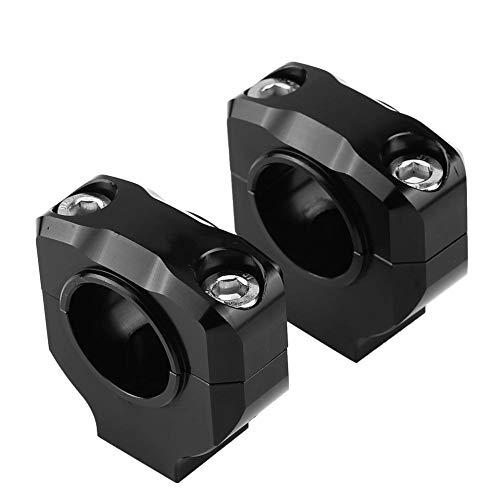 Qiilu Motorrad Lenker Riser Risers Clamp Universal CNC Aluminiumlegierung 28mm Motorrad Lenkerhalterung Clamp 1 Paar