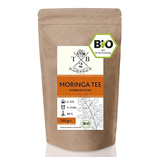 Moringa BIO-Tee ganze getrocknete Moringatee Blätter vom Baum des Lebens in Bio-Qualität. Moringa Oleifera Kräutertee, 100 g | Tea2Be.
