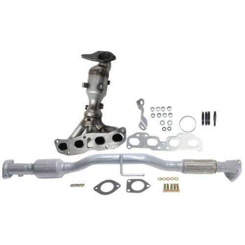 Evan Fischer Catalytic Converter Set of 2 Compatible with 2007-2012 Nissan Altima Front and Rear
