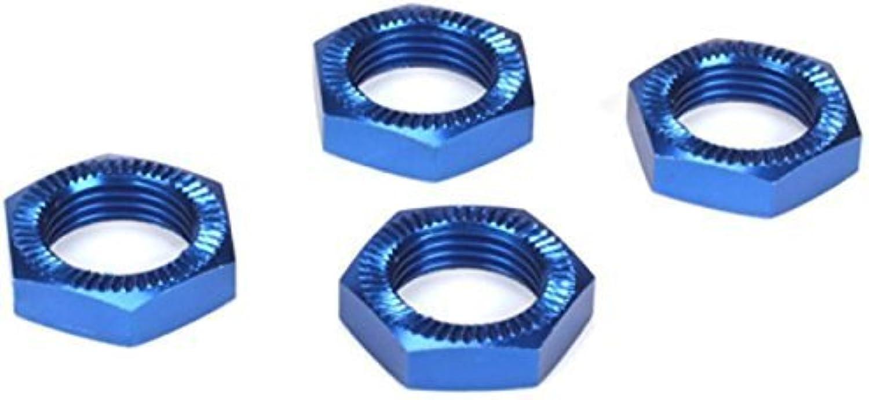 Wheel Nuts, bluee Anodized (4)  5IVET, MINI WRC by Losi