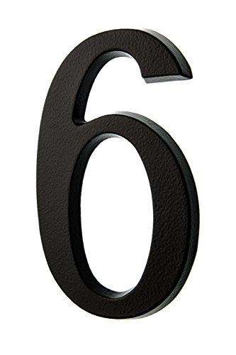 HUBER número de casa 6/9 de aluminio 20 cm I números de casa para puerta I Número de casa XL I placas de número de casa en noble diseño negro 3D, con recubrimiento de polvo