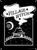 VILLAGE WITCH メタルポスター壁画ショップ看板ショップ看板表示板金属板ブリキ看板情報防水装飾レストラン日本食料品店カフェ旅行用品誕生日新年クリスマスパーティーギフト