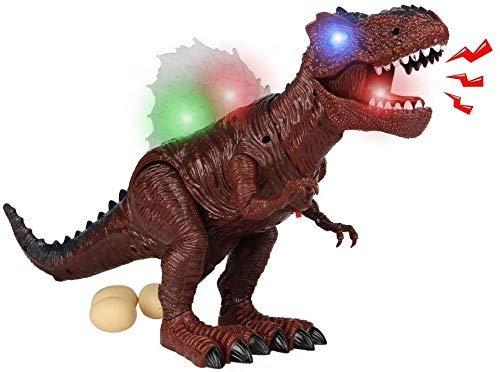Pkjskh Juguetes de huevos de luz y sonido rugido del dinosaurio Tyrannosaurus Rex Toy Caminar dinosaurio llamado juguetes con dinosaurio de la muchacha del niño
