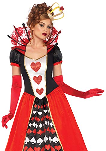 Leg Avenue 85593 Deluxe Queen of Hearts Kostüme, Multicolor, L