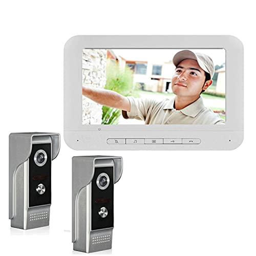 DNAMAZ Portero Video Anillo Timbre cámara Visual intercomunicador Noche visión de la Noche de Dos vías Video Puerta Video Entrada Entrada Llamada Llamada automatico (Color : V70MM4 2V1)