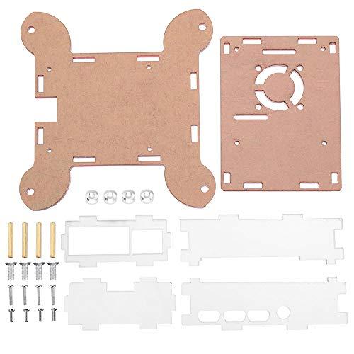 weichuang Elektronisches Zubehör, 3 Stück, rot, Acryl, Wandmontage, Schutzgehäuse für RPi 4 Modell B Elektronikzubehör Elektronikzubehör