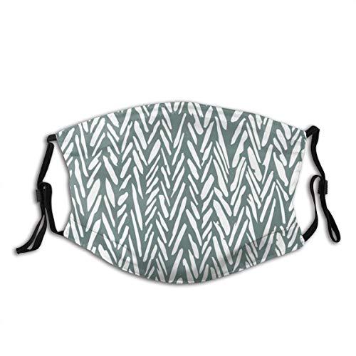 Unisex Gesichtsbedeckung, Fischgrätenmuster, wiederverwendbare Stoffmaske, Schutz, atmungsaktiv, Sturmhaube