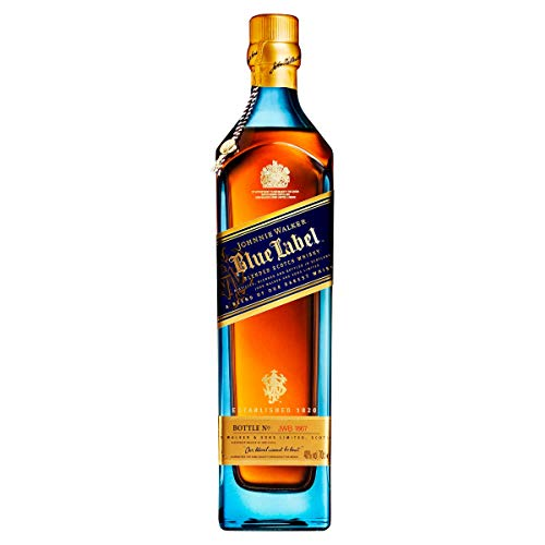 Johnnie Walker Blue whisky esconcés - Pack con dos vasos de regalo - 700ml