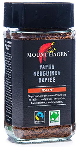 Mount Hagen Bio- und Fairtrade-Instant-Kaffee, Single Origin Arabica 1 x 100g