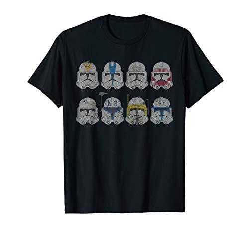 Star Wars Clone Wars Clone Troopers Helmets T-Shirt