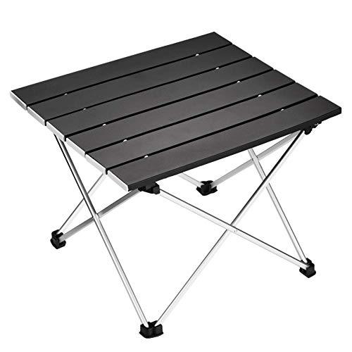 Nrpfell Table de Camping Pliante Portable en Aluminium de Table de Bureau Adapté pour Pique-Nique en Plein Air Barbecue Cuisson Vacances Plage RandonnéE Voyager