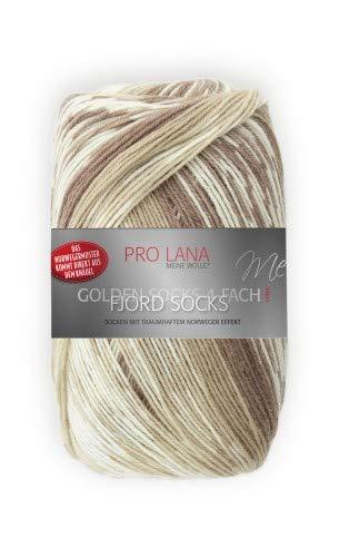 Unbekannt Pro Lana Fjord Socks 4-fädig Color 181 beige braun, Sockenwolle Norwegermuster musterbildend
