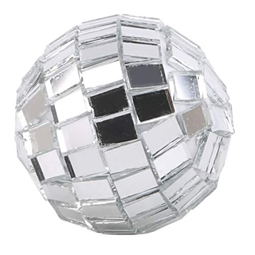 LSSJJ Mini Disco Mirror Ball Christmas Tree Bauble Home Party Decoration Gift Fun Room Craft Frozen,Silver